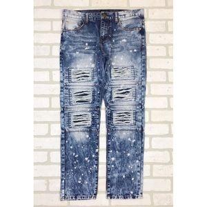 CJ Black Bleached Distressed Slim Jeans 30X30